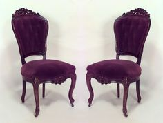 American Victorian seating chair/side chair-pair rosewood