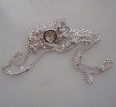 16/ 41cm sterling silver 1.2mm chain by admiralglass on Etsy, $13.00