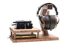 WoodWarmth Headphone Dac/Amp Stand: Headphone Stand Headphone Holder Amplifier Stand Mini Music Station  Heaphone Dock FREE SHIPPING!