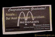 That's it...no more McDonalds!
