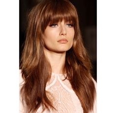 Bang Styles For Long Hair Brilliant 35 Bang Styles For Long Hair  Hair  Pinterest  Bangs Long
