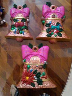 Lampara rbol de navidad grande cer mica pintada a for Bizcochos de ceramica