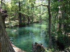 The Blue Hole in Wimberley, Texas.  After some shopping and eating, take a COLD dip in the Blue Hole if you dare.