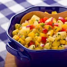 Cool, refreshing pineapple mango salsa, a no-cook side for summer