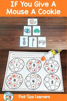 if you give a mouse a cookie activities preschool Kindergarten Math Activities, Preschool Lesson Plans, Free Preschool, Toddler Activities, Teaching Vocabulary, Teaching Kids, Teaching Resources, The Fun Factory, Mouse A Cookie