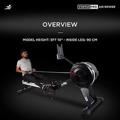 JLL® Ventus Pro Air Rower, Commercial Rowing Machine, 10 Levels of Air Resistance, Heavy Duty, 11 Function LCD Monitor, 150kg Max User Weight Rowing Machines, Workout Machines, Lcd Monitor, At Home Gym, You Fitness, Commercial, Fitness At Home, Home Gyms