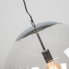 Hanglamp Ball 50 helder chroom - Fantastisch vormgegeven hanglamp, dit tijdloze ontwerp zal een zeer sierlijk en sfeervol effect in uw woning of kantoor realiseren. Laat uw fantasie de vrije loop met de strakke Ball hanglampen serie! #nieuw #hanglamp #binnenverlichting