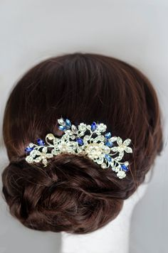 bridal hair comb rhinestone hair comb crystal hair от MarinaUA