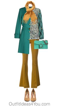 Have fun and wear what you love!  Jen Thoden                 Shop This Look      Etro blouse $775-farfetch.com    Class Roberto Cavalli blue coat $760-yoox.com    Erika Cavallini Semi-Couture brown pants $435-farfetch.com    TaylorSays beige shoes heels.com