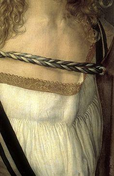 Albrecht Dürer, Self Portrait, detail.