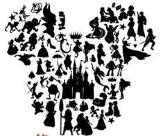 Disney Diy, Disney Crafts, Disney Love, Disneyland Trip, Disney Trips, Silhouette Cameo Projects, Silhouette Design, Disney Designs, Disney Scrapbook
