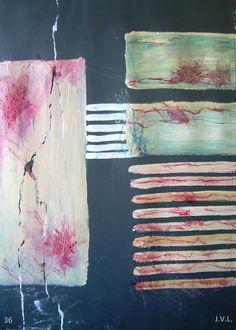 Expérience 36 Mixte sur papier 70x50cm. 01-10-2014