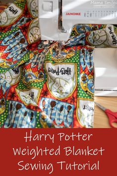 Sew a Harry Potter weighted blanket to ease anxiety and bring comfort to fans of all ages. Where to find fabric, filling options, and more. Harry Potter Fabric, Harry Potter Diy, Sewing Hacks, Sewing Tutorials, Sewing Projects, Weighted Blanket Tutorial, Harry Potter Themed Gifts, Fall Sewing, Home Sew