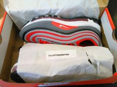 size 40 ccf63 43e6f Nike Air Max 97 Gym Red Dark Grey Men Running Shoes Sneakers 921826-007  size11US