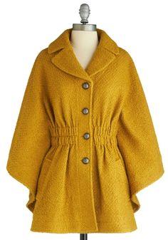 You're Golden Cape | Mod Retro Vintage Jackets | ModCloth.com - StyleSays