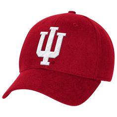 Indiana Hoosiers adidas Basic Structured Flex Hat - Crimson 3d5d4b5a8312