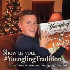 Did you find Lager under your tree? Share your #YuenglingTraditions for a chance to win. woobox.com/wwncbe (link in profile). #Yuengling #LagerLove #Christmas #holidays by yuenglingbeer