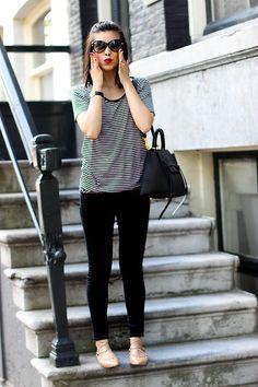 New Look Striped Tee, Zara Lace Up Flats, Primark Skinnies, Céline Bag, Tom Ford…