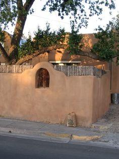 Adobe + Coyote Fence & Nicho {Santa Fe Style}