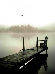 Sitting On The Dock Of The Lake ~ Bancroft Ontario, Canada. Photo by...?