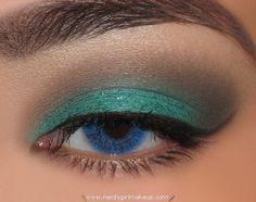 gray & teal w/ glitter . must try