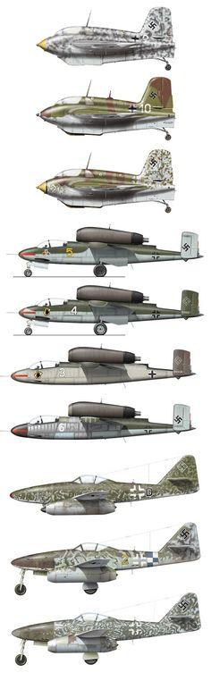 Luftwaffe Jets Me 163 / He 162 / Me 262: