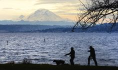 Mt Rainier peeks through the clouds in Seattle | Picture This | The Seattle Times
