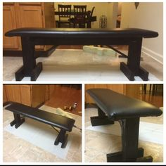 DIY Bench Press. Very Sturdy. Benched 340Lbs on it often. #Bench #Benchpress #DIY #Garagegym #Homegym #powerlifting #Bodybuilding #weightlifting