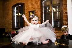 #FlowerGirl - Pretty Darned Adorable! See the wedding on SMP --  http://www.StyleMePretty.com/2014/01/23/boho-wedding-at-the-carondelet-house/ Photo Kronology