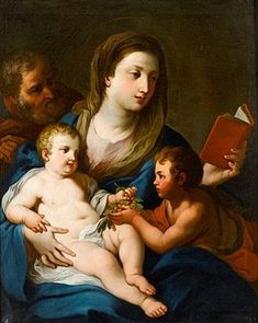 Sebastiano Conca The Holy Family with the Infant Saint John the Baptist, oil on canvas.