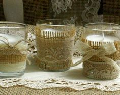 burlap and lace wedding decoration ideas - Google Search