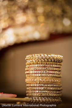 Dazzling indian bridal bangles http://www.maharaniweddings.com/gallery/photo/131537
