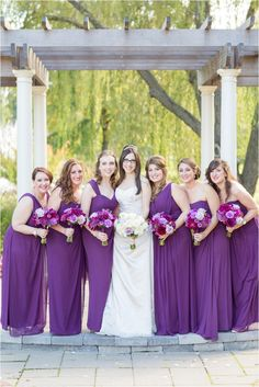 Maryland Wedding Photography {Turf Valley: Maryland Resort} Anna Grace Photography   Purple Bridesmaids