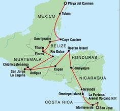 32-day Central America tour - Mexico - Costa Rica