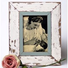 Distressed reclaimed wood picture frame #picture #frame