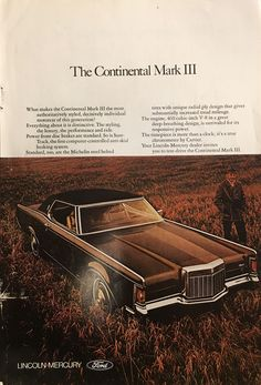 1970 Lincoln Vintage Magazine Ad from National Geographic