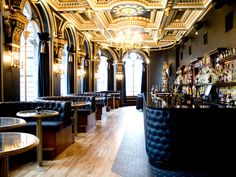 From Men's Health. The voodoo Bar, Edinburgh. More gold and black :)