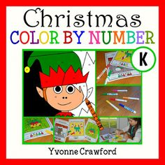 Christmas Color by Number (kindergarten) Use code: Cyber2016 to receive 28% off!