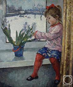 Ягужинская Анна. Девочка у окна