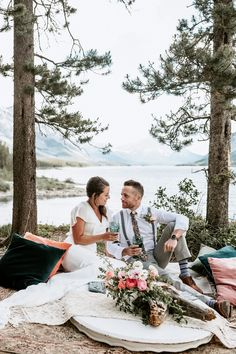 This beautiful spring wedding inspiration is fresh on the Alberta Wedding Social Blog! Filled with soft and romantic elements, water AND mountains and nothing but all the prettiness! Wedding Gowns, Wedding Day, Vow Book, Spring Wedding Inspiration, Beautiful Calligraphy, We The Best, Gorgeous Cakes, Sweetheart Table, Beautiful Moments