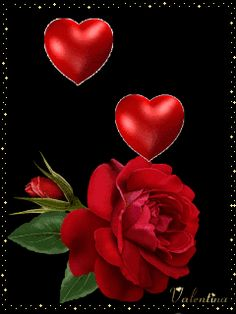 Valentineday Red Rose And Red Heart Mobile Wallpaper Love Heart Gif, Love Heart Images, Love You Gif, Rose Images, I Love You Baby, Heart Wallpaper, Mobile Wallpaper, Animated Heart Gif, Roses Gif