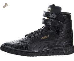 Puma Womens Sneakers Sky II Texture Hi Black Metallic Gold 361510-01 - Puma sneakers for women (*Amazon Partner-Link)