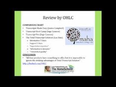 In this video, Jack Donnelly, Director, Omaha Homeschool Learning Center, compares four homeschool transcript products. Guess which one was the clear winner!! www.totaltranscriptsolution.com