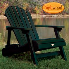 Always popular, the Highwood Hamilton Folding & Reclining Adirondack Chair will be ready for you summer after summer. Made with low-maintenance,. Plastic Patio Chairs, Plastic Adirondack Chairs, Outdoor Chairs, Outdoor Decor, Outdoor Spaces, Paint Furniture, Cool Furniture, Office Furniture, Modern Furniture