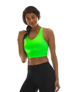 91025d09c1341 Women s Strapless Seamless Tube Top Bandeau - Neon Green