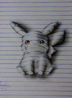 """Brasileiro de 15 anos cria desenhos 3D inacreditáveis brincando com """"linhas"""" de…"""