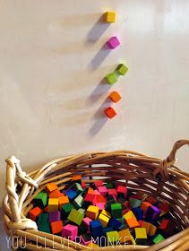 Make your own colourful blocks.  To see more and for ideas of how to play with them.