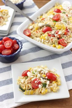 Fresh Corn and Tomato Salad {Vegetarian} from A Kitchen Addiction