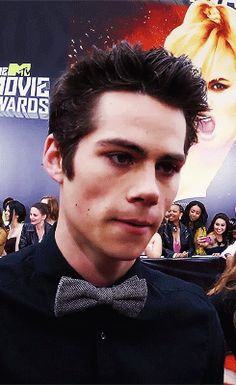 His bow tie is so adorable.