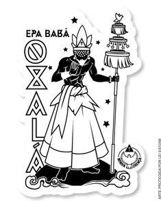 Adesivos para enfeitar e passar um Axé para quem segue a espiritualidade dos Orixás. Santeria Spells, New Mexico Hot Springs, African Mythology, Yoruba Religion, New Mexico Style, Holy Mary, Orisha, Sacred Art, Occult